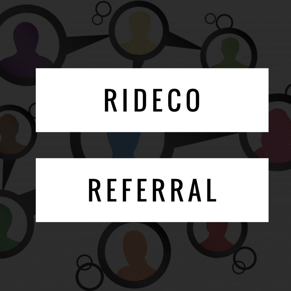 SIGN UP HERE for the RideCo Rider Referral Program. It's a great opportunity to earn more by referring new passengers.