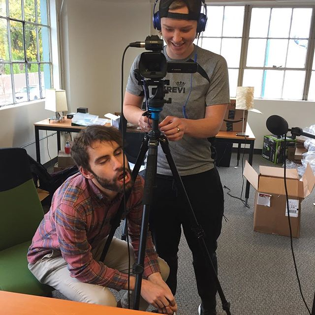 Never a dull moment in our office. As you can see, Michael and Brandy enjoyed filming yesterday. They're our teammates and we love them. #teamclientjoy #startuplife #entrepreneurship #portland #portlandoregon #clientjoy #gratitude #showgratitude #begrateful #businessgifts #holidaygifts #clientgifts