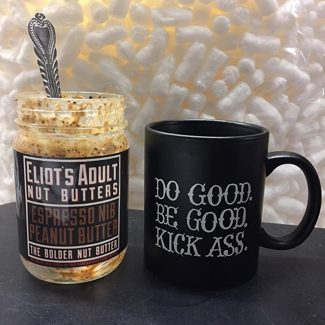 You know it's holiday season at ClientJoy when Solange is blasting and you see empty jars of peanut butter snuggling up with cups of coffee at 8:00 pm. ☕️️🎁🙌🏾📦📫#holidays #holidaygifts #clientjoy #portland #clientgifts #businessgifts #coffee #peanutbutter #pacificnw #startup #entrepreneur