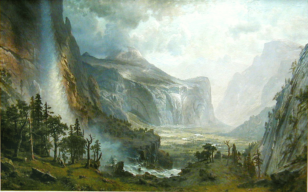 Albert Bierstadt's  The Domes of the Yosemite,  1867