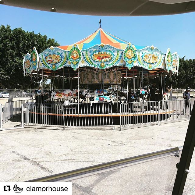 The carousel is ready for riders! See you at the #wearelafest #family #familymusic #charity......……#Repost @clamorhouse with @repostapp ・・・