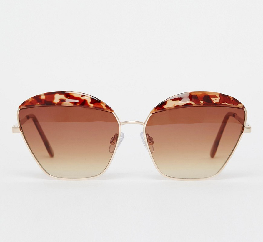 Serve looks in this simple, Mui Mui inspired sunnies all while not breaking the bank and protecting your eyes from the sun. ASOS Metal Frame Cat Eye Sunglasses With Contrast Highbrow $24.00