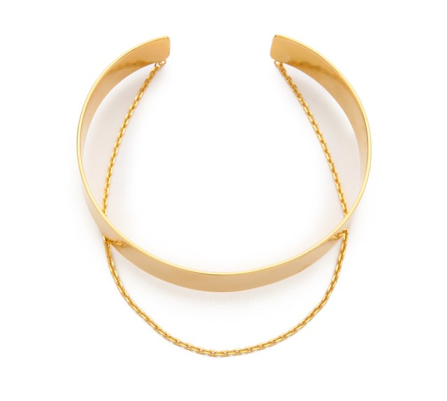 Chokers are all the rage and we're living it up. Elevate your look with a touch of gold with this simple but bold choker. Vanessa Mooney Anarchy Choker Necklace $125