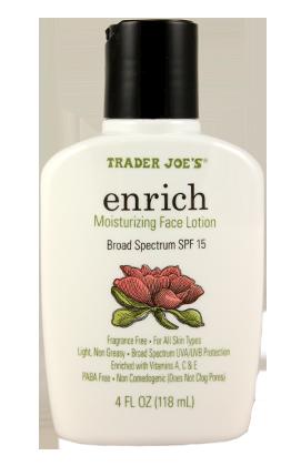 Trader Joe's Enrich Moisturizer w/SPF15, $4