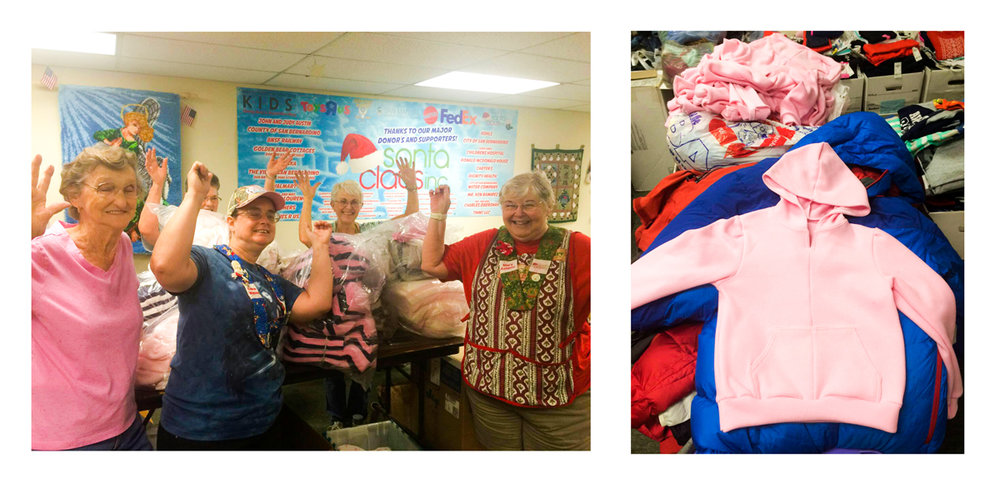 Stormie Dreams x Santa Claus Inc. From surplus fabric to beautiful childrens clothing! With our available resources, we sent our friends over at Santa Claus Inc bundles of fabric that were constructed by the wonderful volunteers to gift to the children in our community.