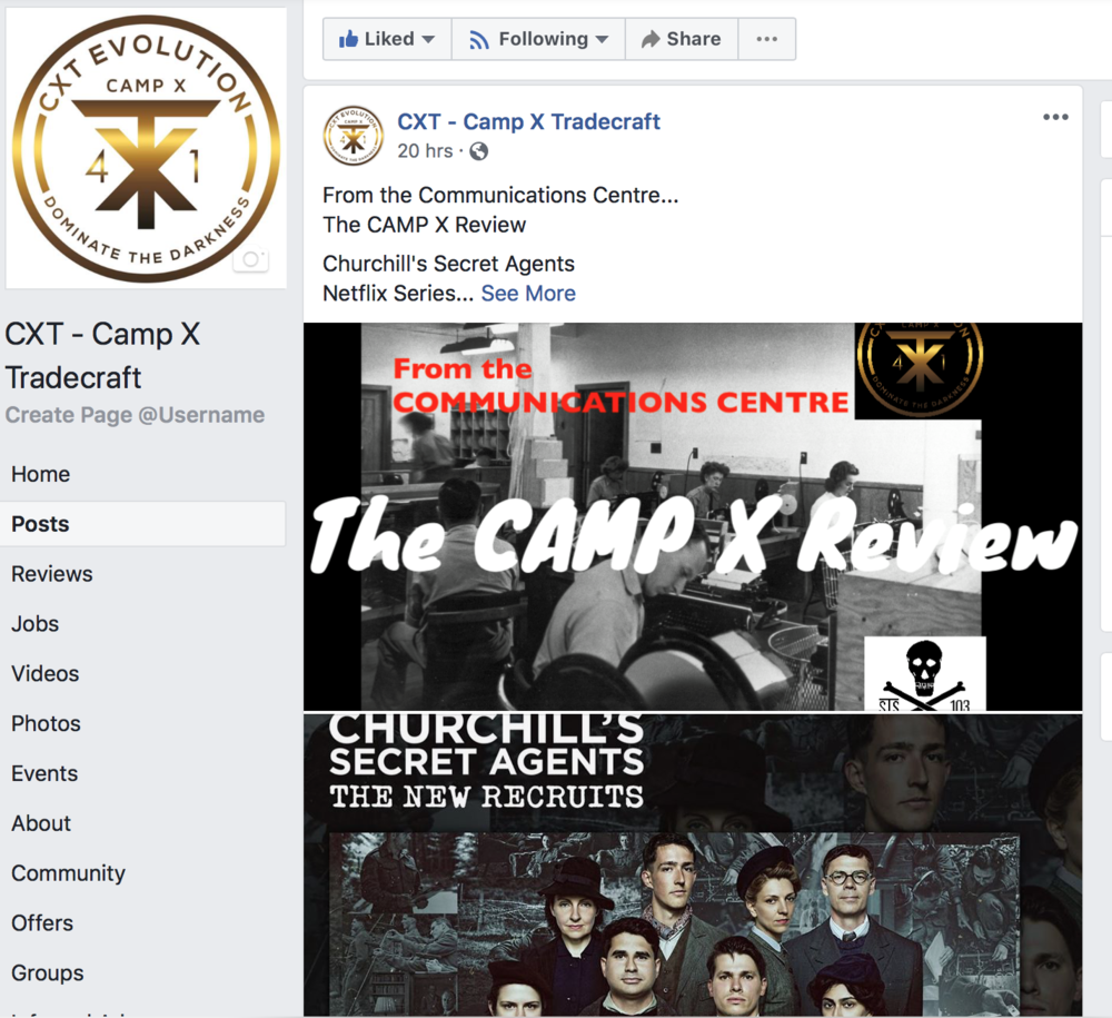 The CAMP X Review… - Transmitting awareness of CAMP X movies, television and related projects and linking it to the real history…