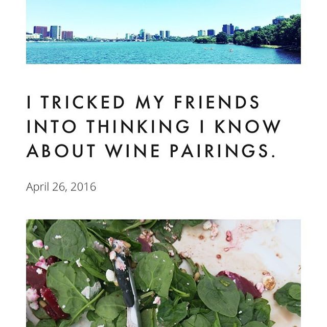 """""""I tricked my friends into thinking I know about wine pairings."""" Awesome write up from @danahowe on her blog - check out how it went when she tried our pairings out on her friends this week. Full story on our website, link in bio 🌶 #platedpairings #yum #BostonFoodies"""