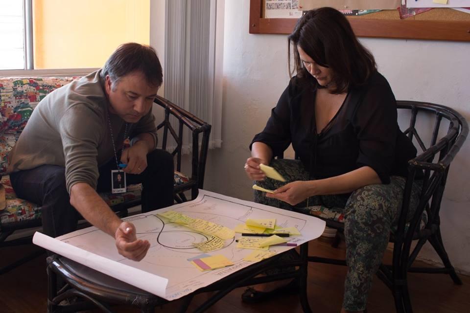 Exercício de mapeamento de mensagens para construção de narrativa.