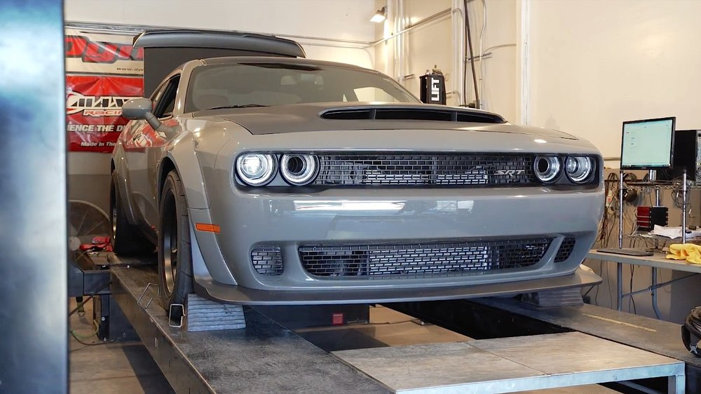 Epi. 4 - The DYNO - On Episode 4 of The Demon Diaries we head to Sonoma Raceway, to TFB Performance to strap our 2018 Dodge Demon on the dynamometer to see how much rear wheel horsepower and torque it actually makes. Runs were done on both 91 and 100 octane Sunoco fuel on a DynoJet 224x. From the factory the Demon is rated at 808 hp and 717 lb-ft of torque on 91-octane, and 840 hp and 770 lb-ft of torque on 100-octane when utilizing the Performance PCM. Want to see how close we got to those numbers?