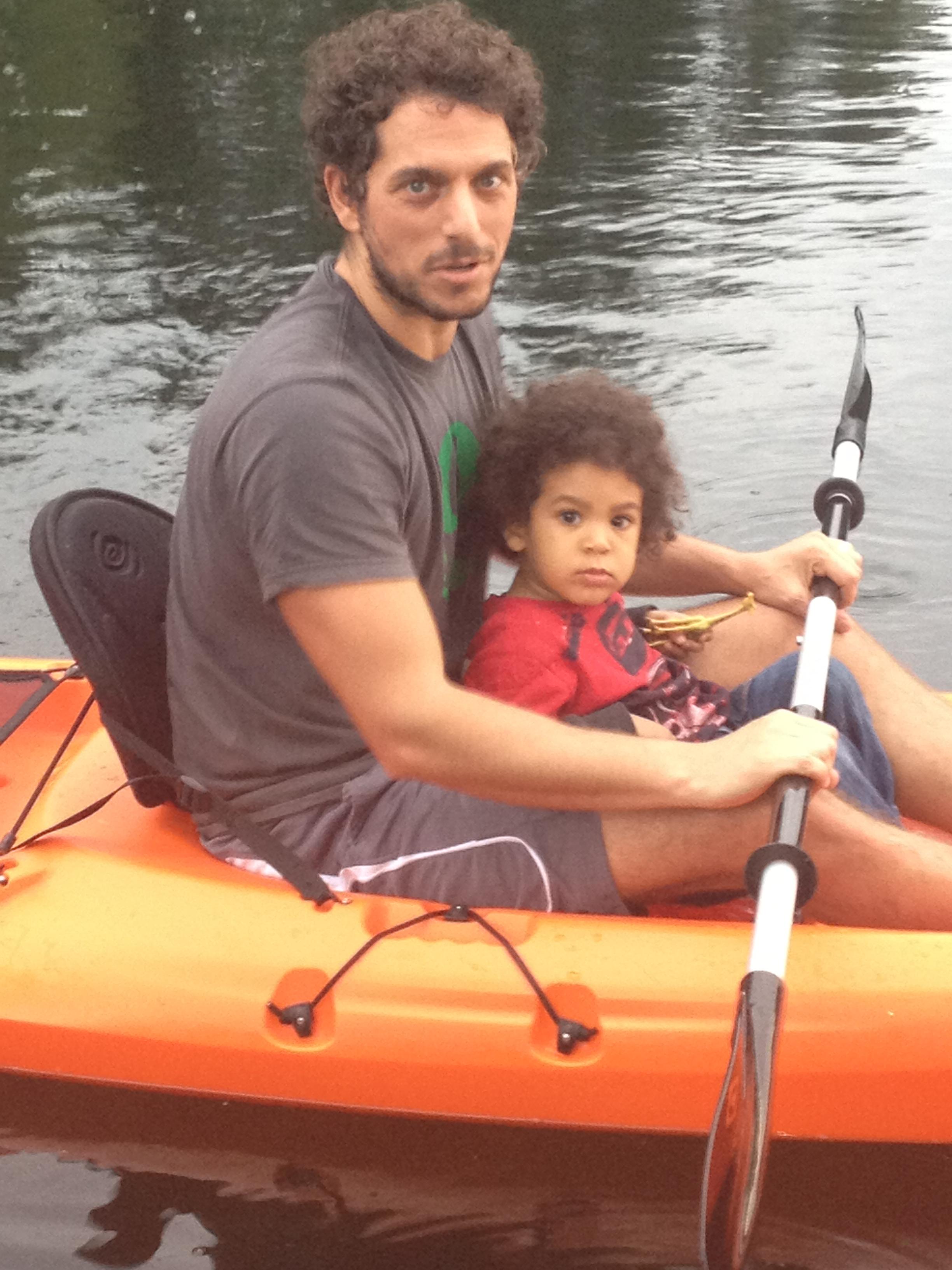 Miles, Papa & a Kayak