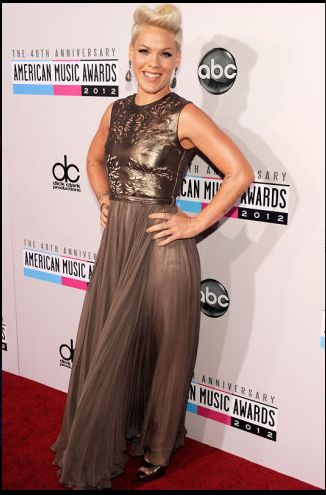 P!nk at the AMA Red Carpet