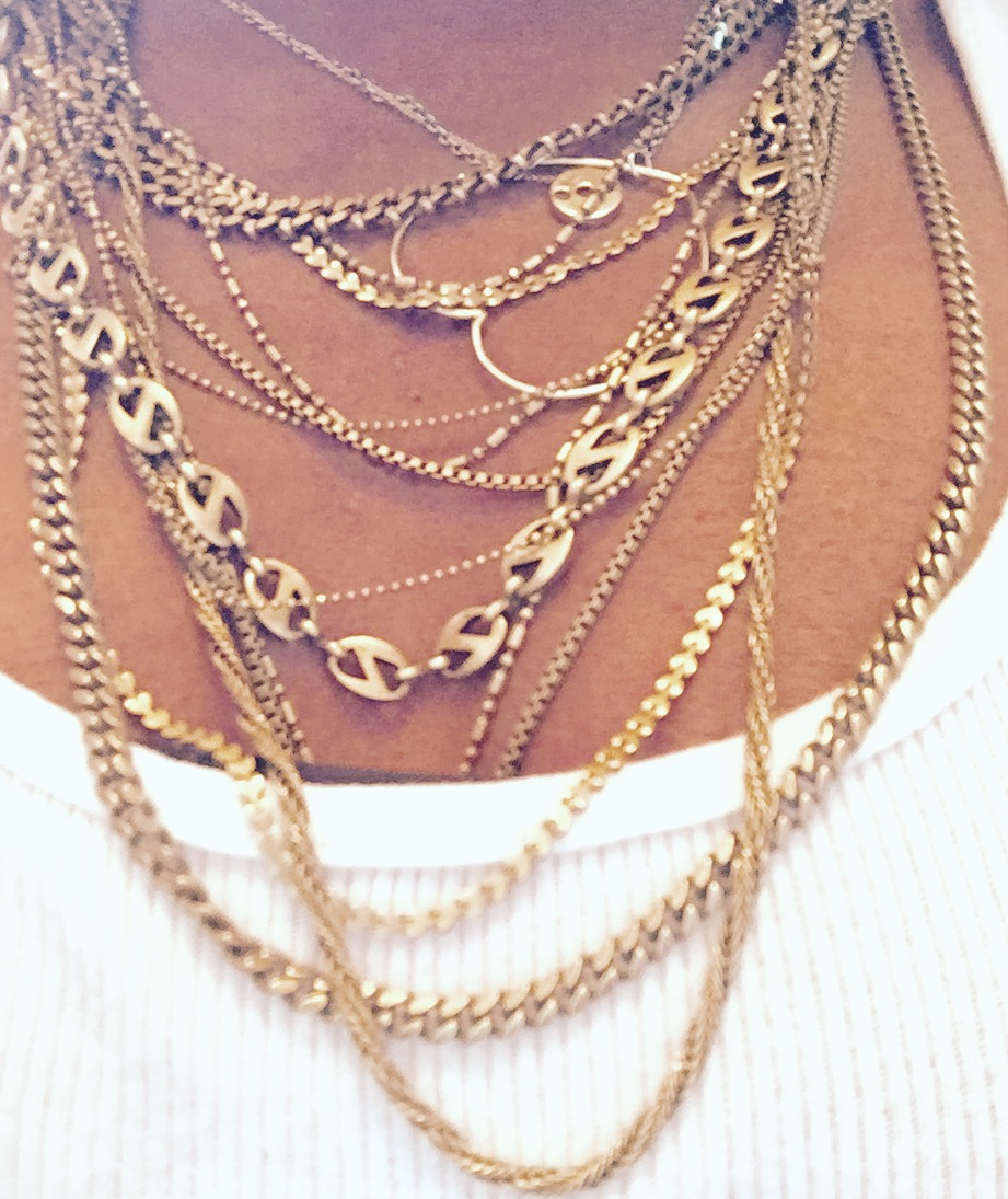 These are a few of my favorite things: The Hitchcock Heart Necklace, Xenia Mara chains. It's all a girl needs in life :)