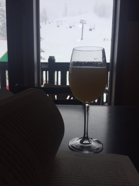 Nothing like a good read and mimosa while looking out at the mountains