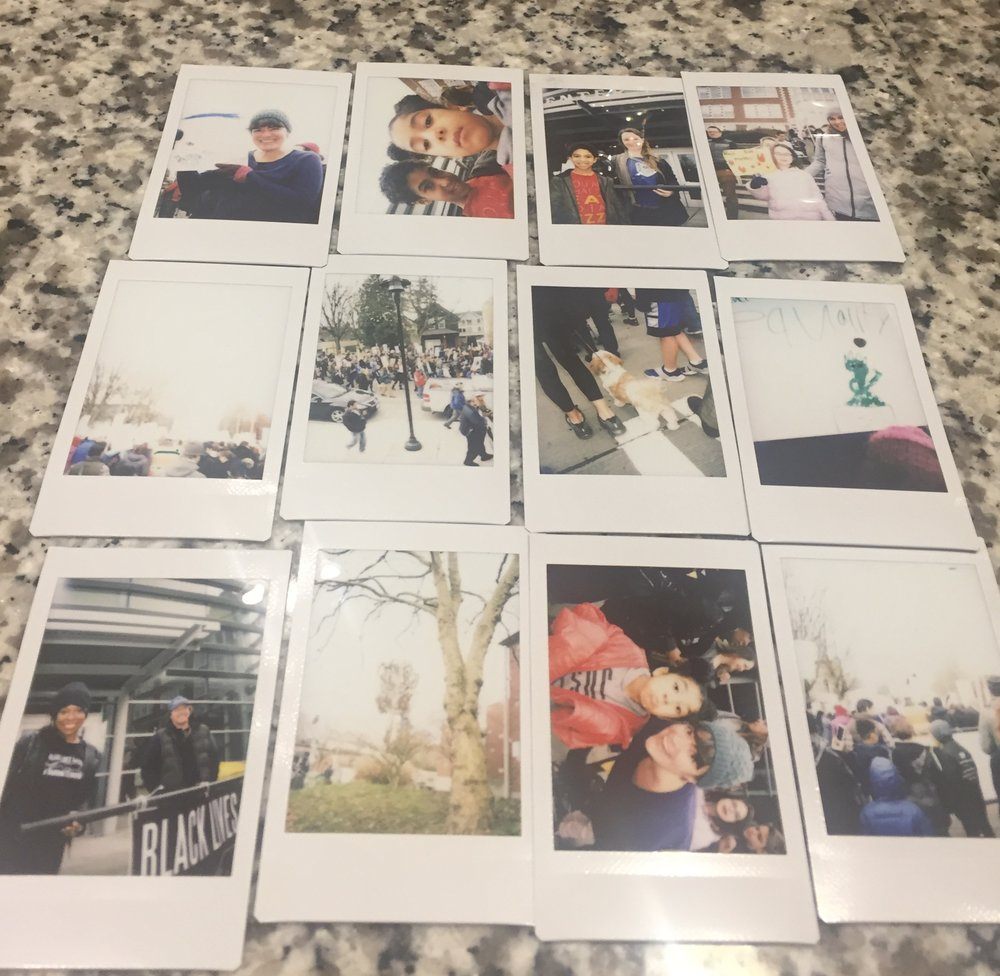 My daughter even got to make good use of a her Polaroid camera (an xmas gift), and got a lot of sweet shots.