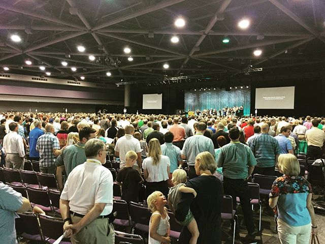 Grateful to have been at the  PCA General Assembly last night. Thank you all for joining along singing with us! #thetaskunfinished