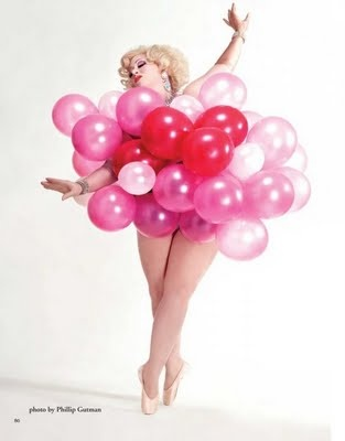 """Dirty Martini"": Plus-Size Balloon-Popping Goddess"