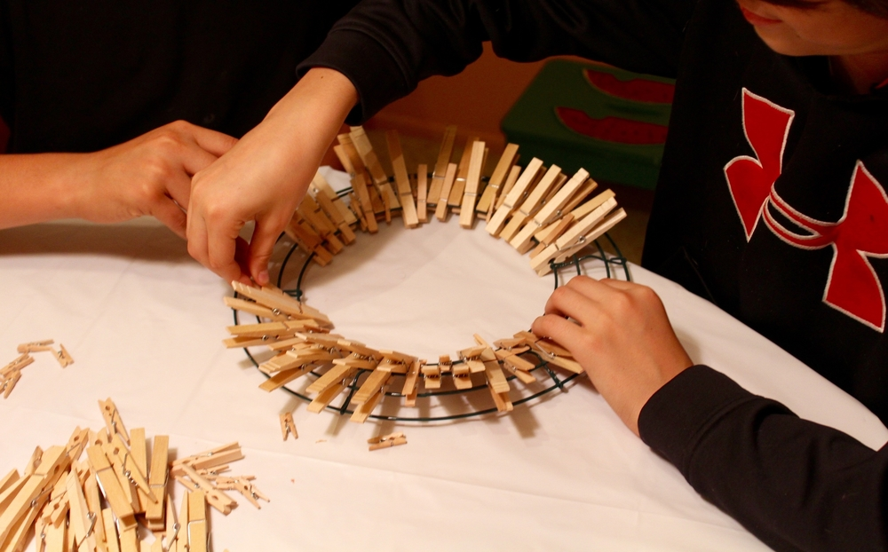 Fitting the Clothespins
