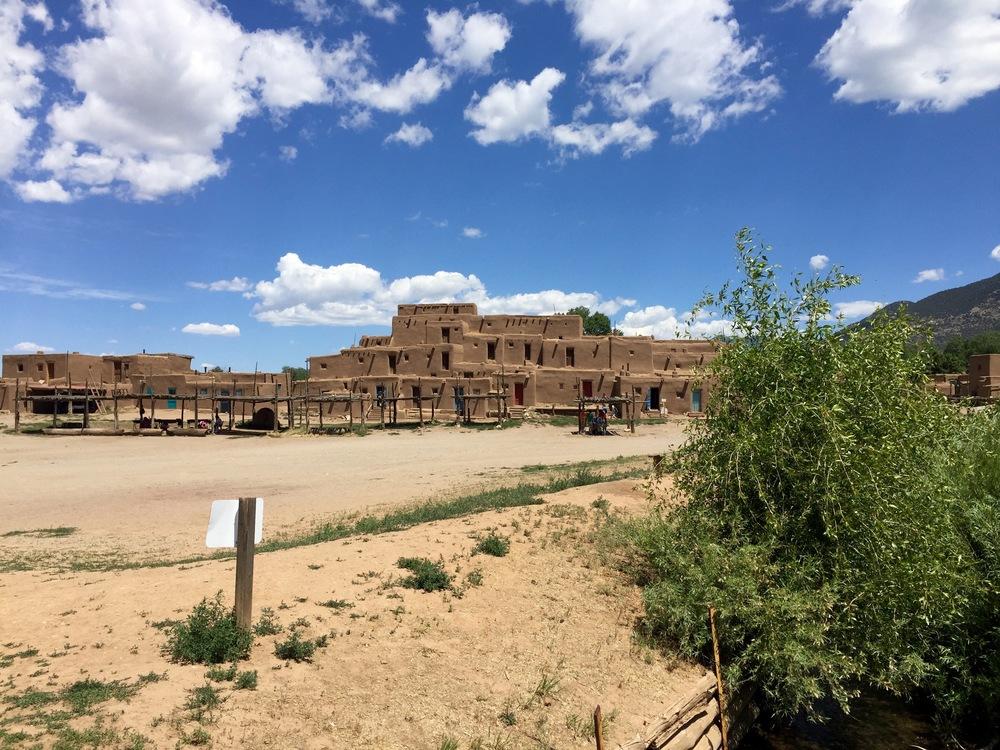 Large complex of Taos Pueblo