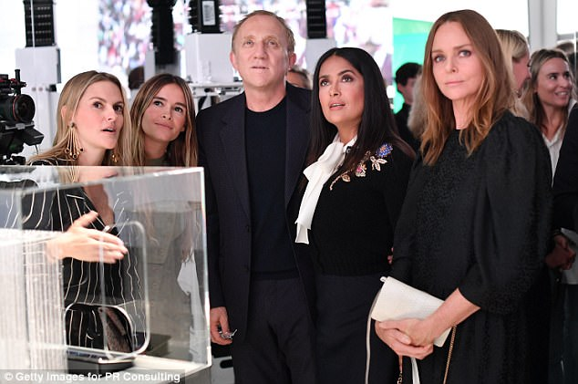 (left to right) OSOMTEX CEO & Founder Patricia Ermecheo, FTL Founder Miroslava Duma, CEO Kering Group François-Henri Pinault, Actress and Activist Salma Hayek and Fashion Designer Stella McCartney