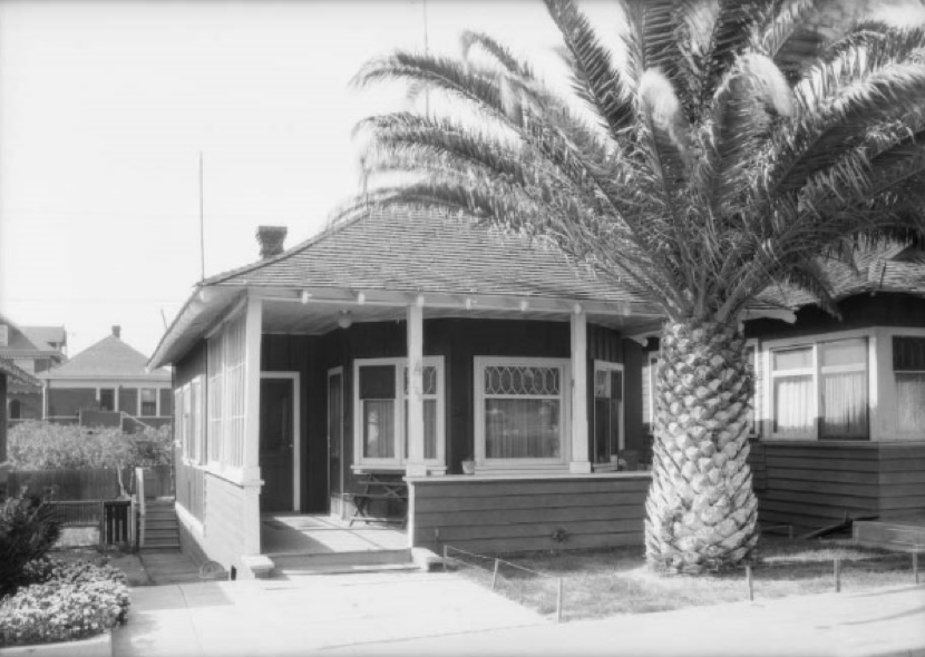 Central Beach Tract cottage,  Hart Avenue, 1925. Source: USC Digital Library
