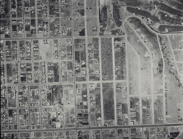 Aerial survey of the City of Santa Monica, 1928. Source: Santa Monica Public Library.