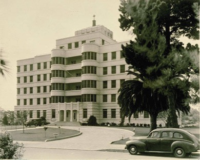 St. John's Hospital, c. 1941. Source: Santa Monica Public Library.