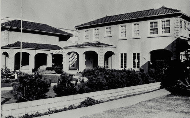 Carlthorp School, 438 San Vicente Boulevard, 1983. Source: Santa Monica Public Library.
