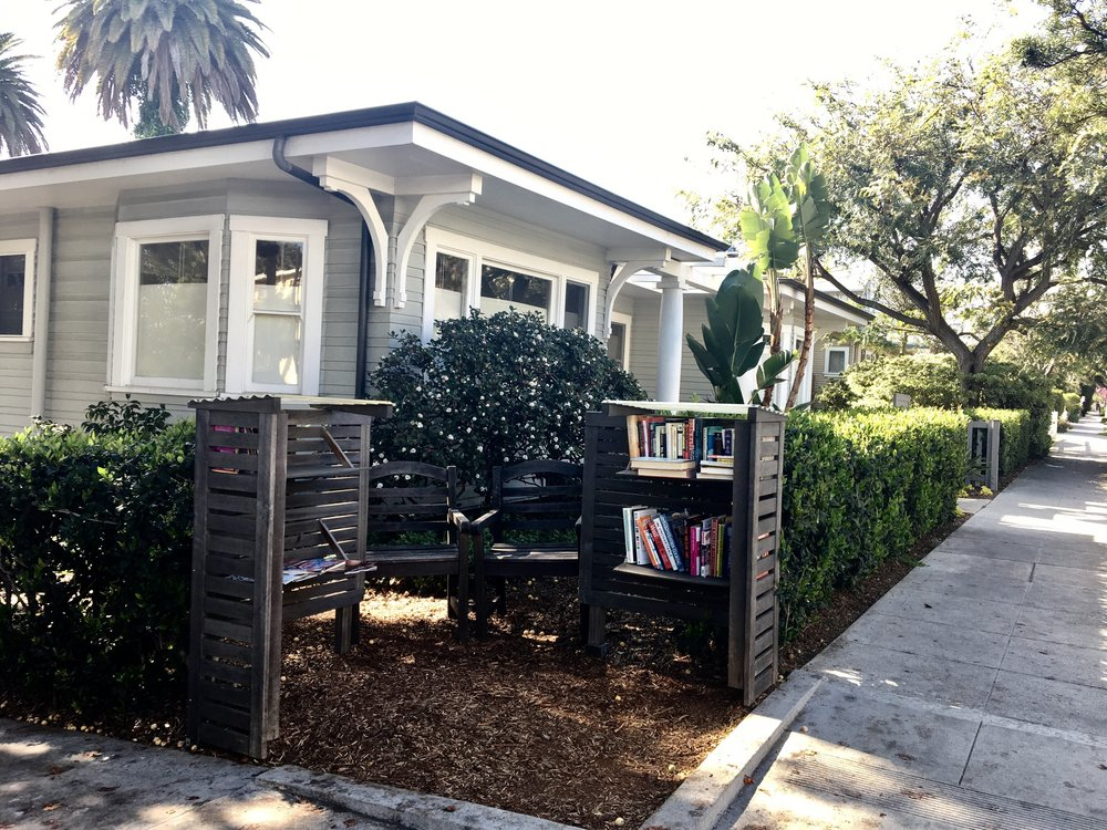 Outdoor library at 2240 6th Street, Ocean Park