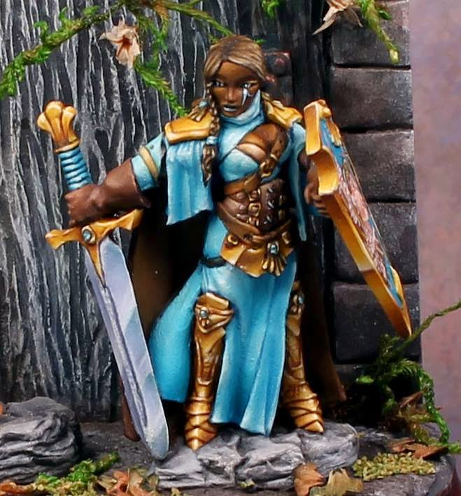 Example of NMM. This was the last time I painted the technique. The piece took a Best of Show at ReaperCon 2010.