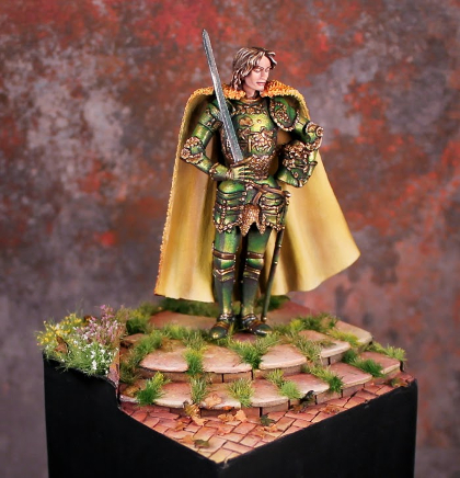 Example of True Metallic Metal paint this year, took 2nd place in GenCon Large Figure 2014.