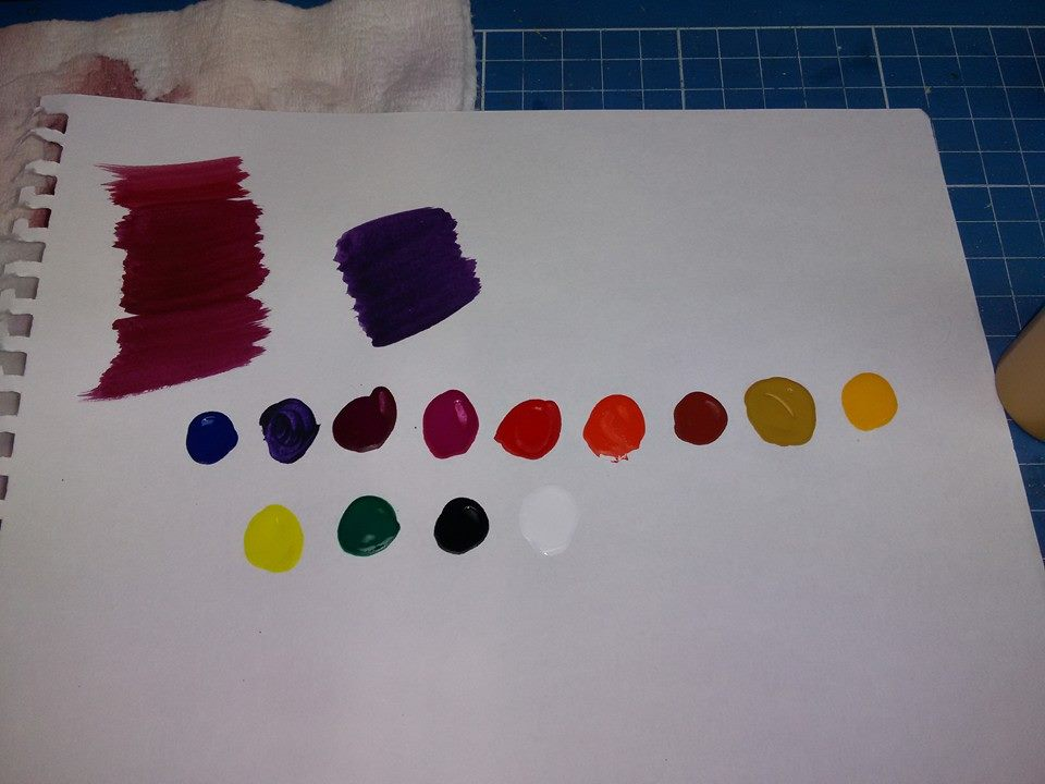 The original proprietary tints from the manufacturer. We have to create all of our colors with these 13 tints.