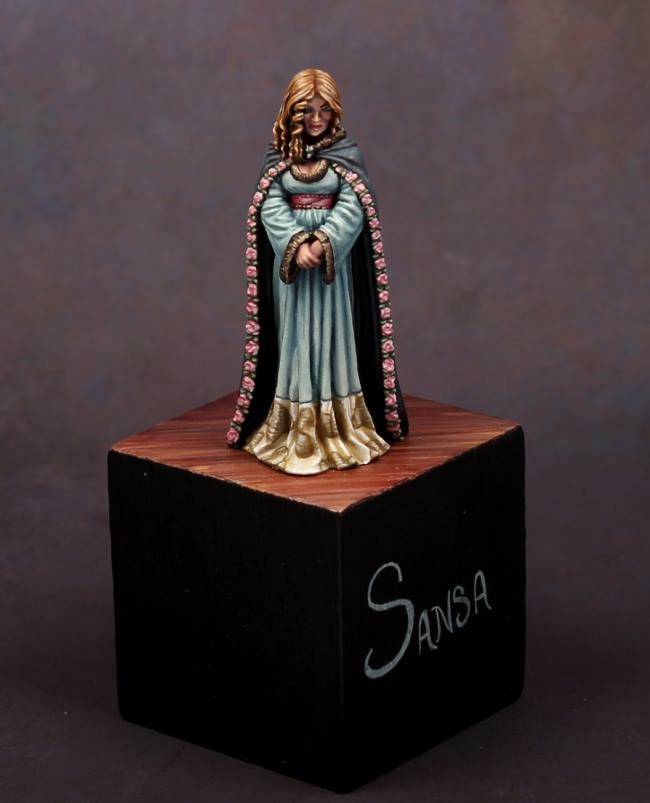 Sansa Song of Fire and Ice Miniatures Dark Sword Miniatures Reaper Con 2012 Silver