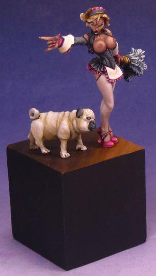 Brigitte the Maid and Pug Reaper Miniatures