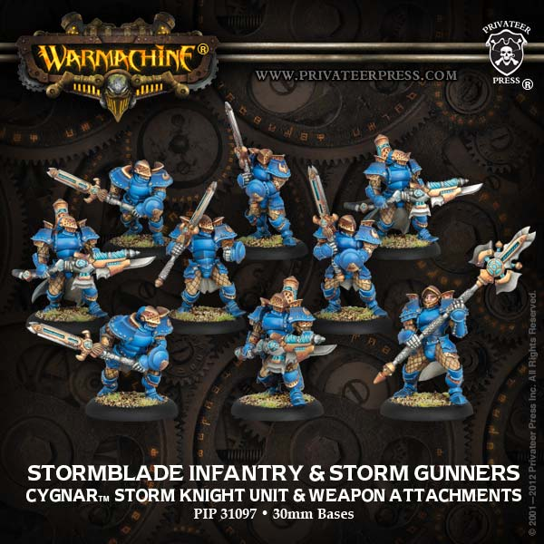 Stormblade Infantry and Storm Gunners Privateer Press - Box Art