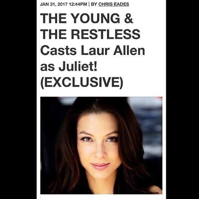 "Congratulations to our MLAC2012 Queen Lauren Zhou Weinberger (Laur Allen) for landing her first major acting role on ""The Young and The Restless"". Our alumni are doing amazing things. #mlac2012"