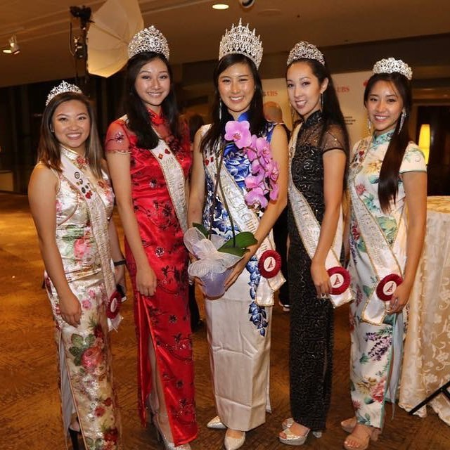 The 2018 Miss Los Angeles Chinatown court at the Chinese American Museum's 22nd Annual Historymakers Award Gala last Thursday