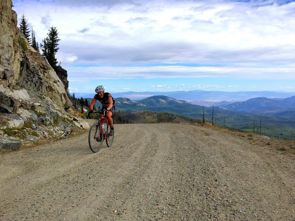 Aaron GranFondo'ing in the Methow