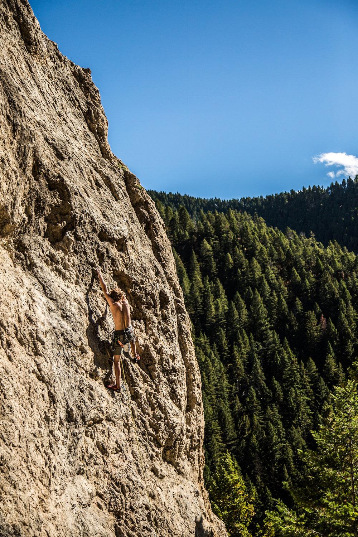 Climbing Outside Bozeman, Montana