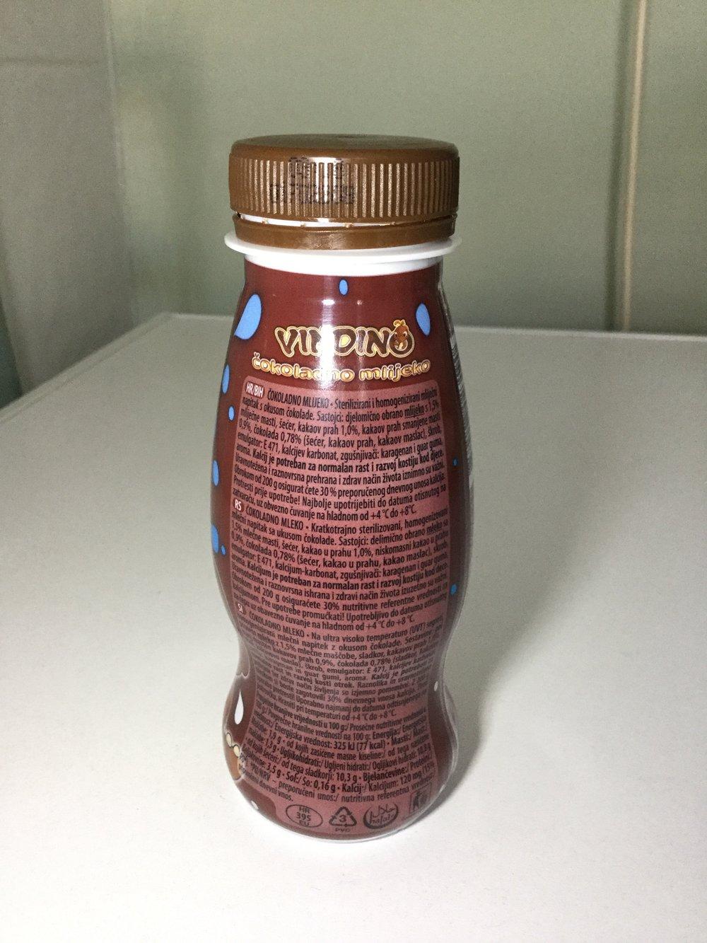 Kvaliteta Vindija Vindino Čokoladno Mlijeko Side 1