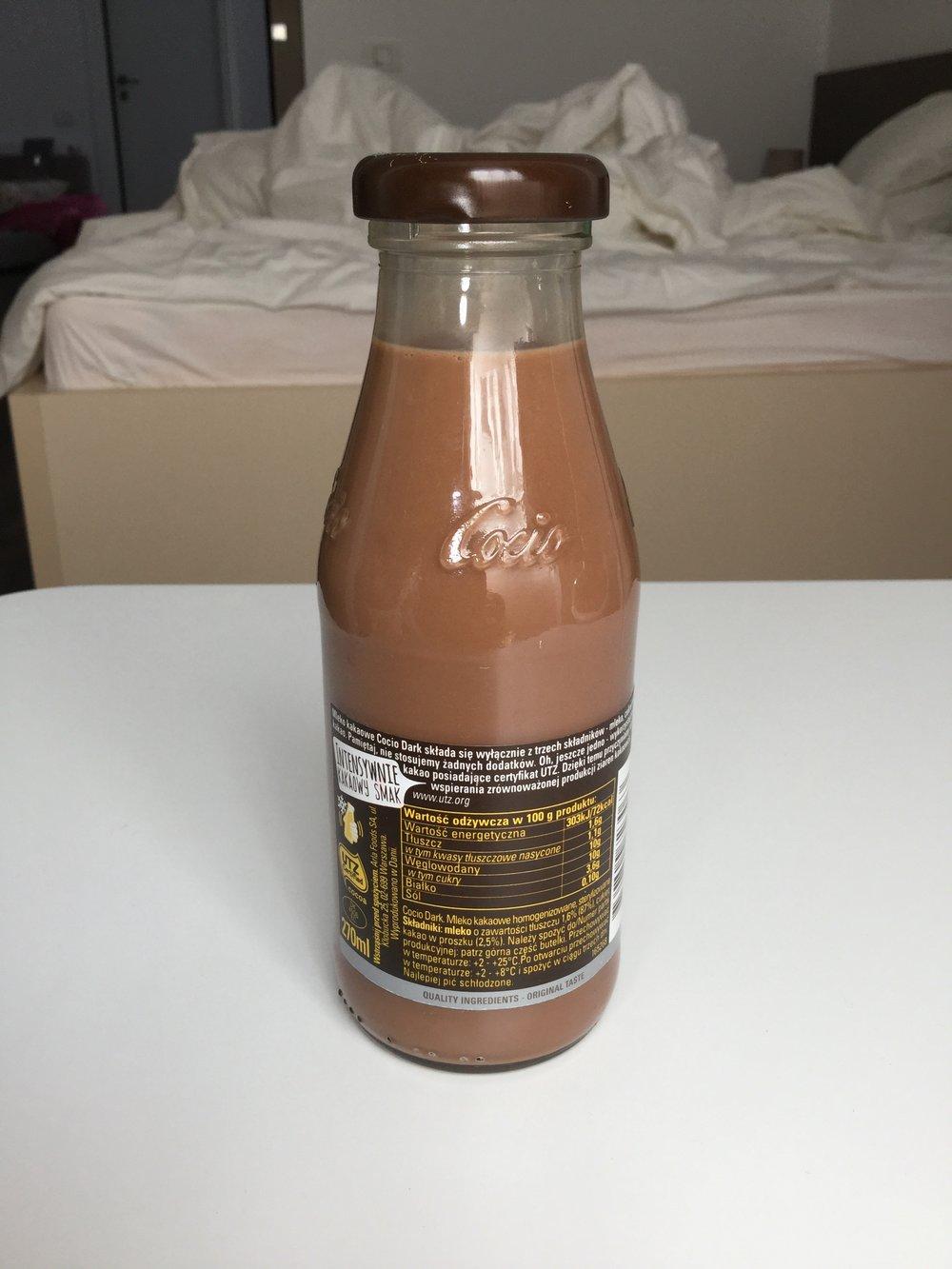 Cocio Dark Chocolate Milk Side 2