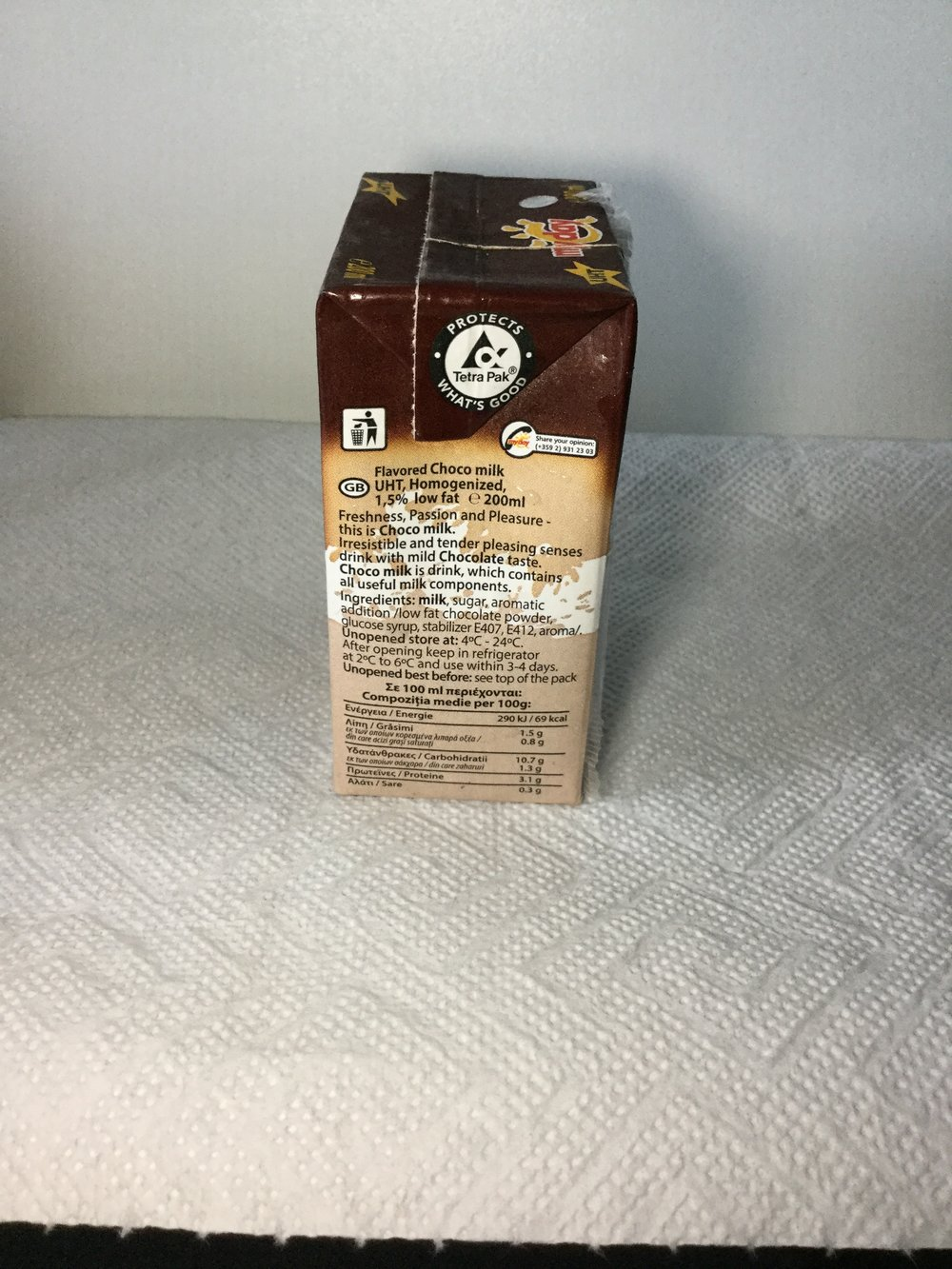 My Day Choco Milk Side 2
