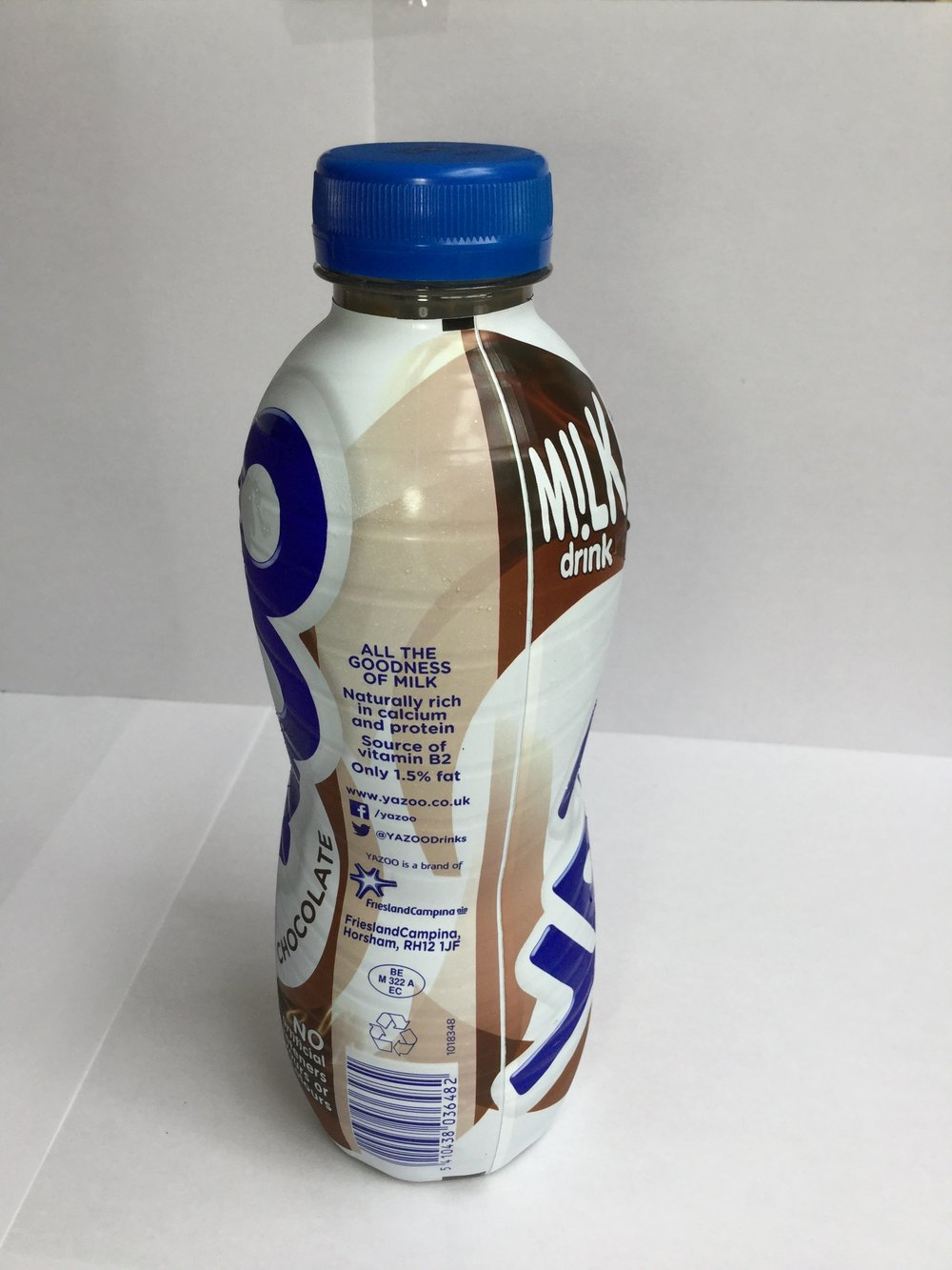 Yazoo Chocolate Milk Drink Side 2