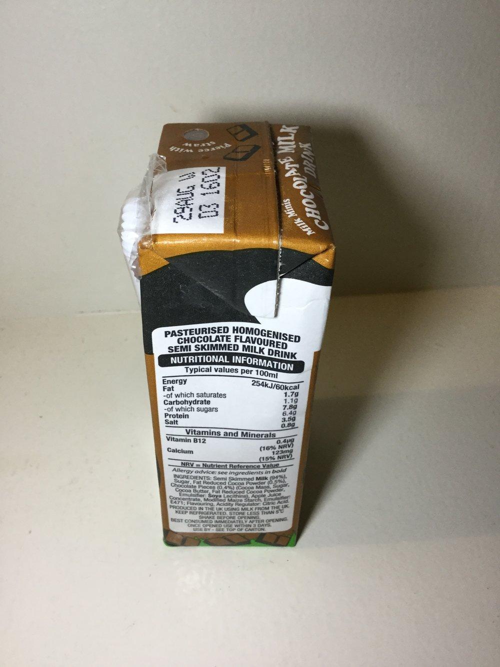 Müller Chocolate Milk Drink Side 1