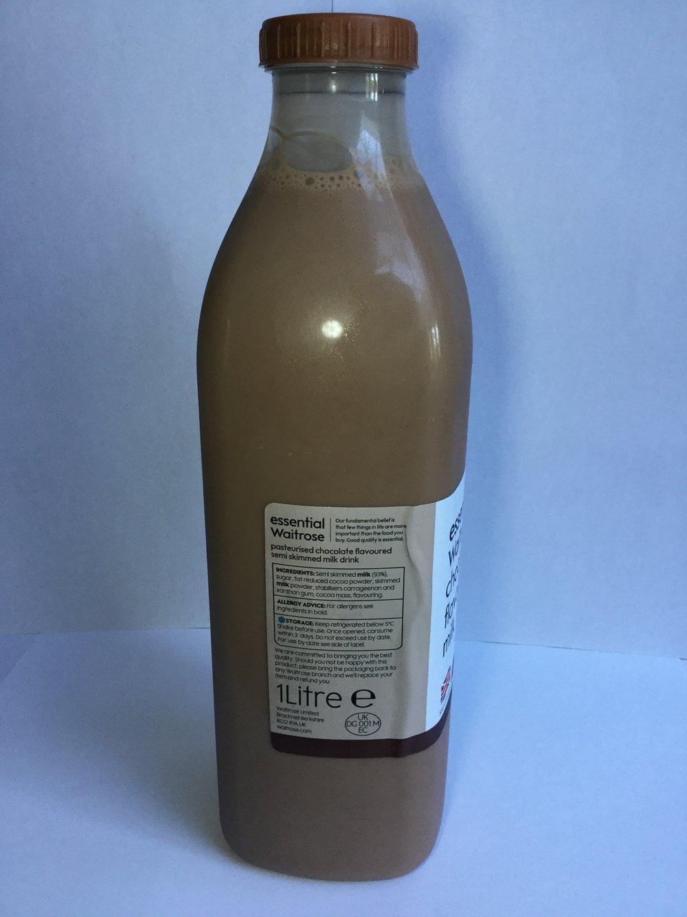 Waitrose Chocolate Flavoured Milk Side 2