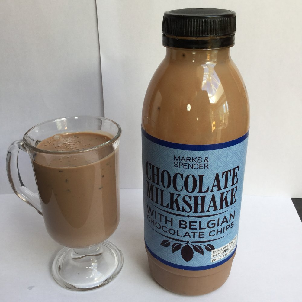 Marks & Spencer Chocolate Milkshake With Belgian Chocolate Chips Cup
