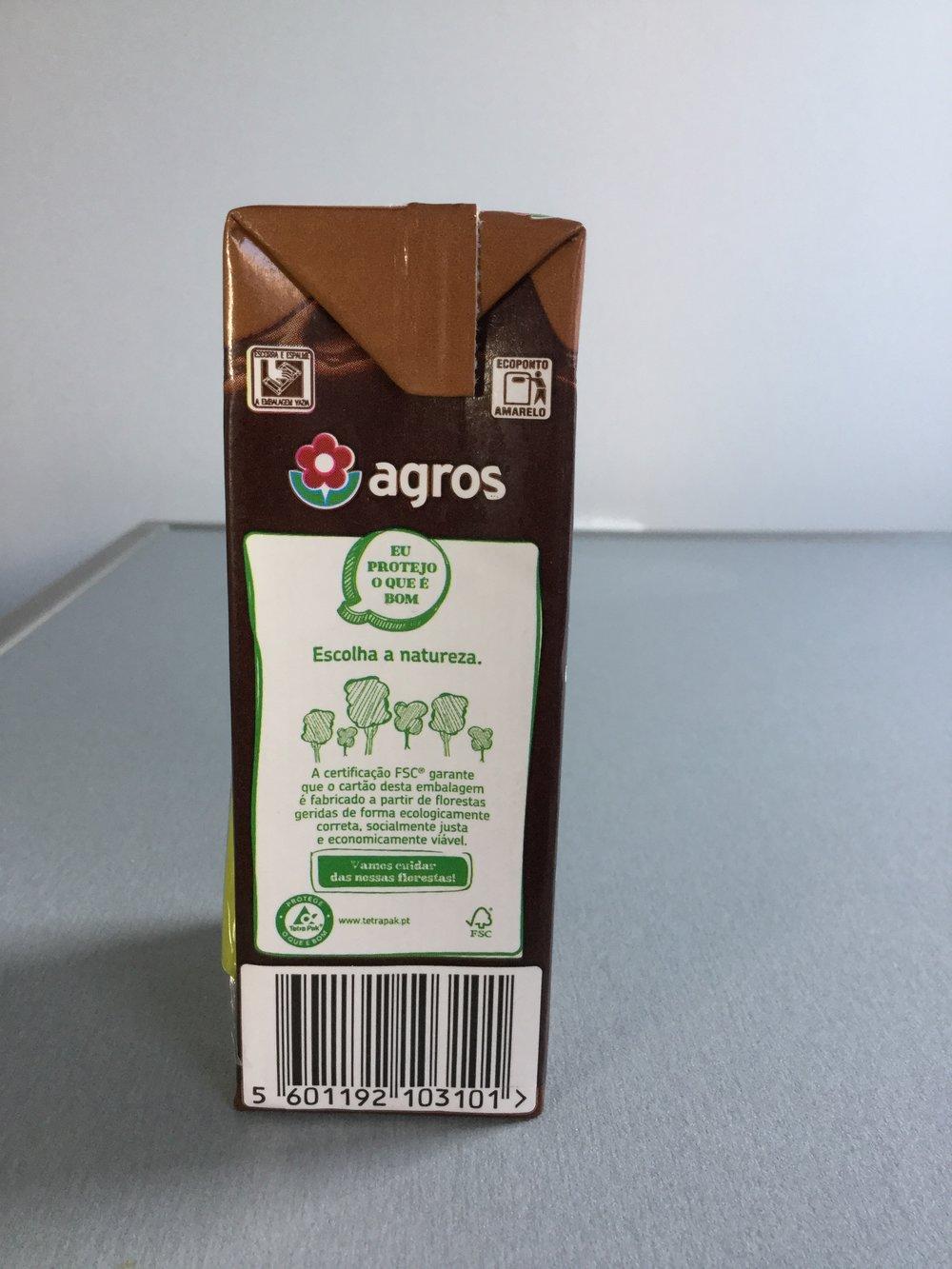 Agros Leite Com Chocolate Side 2