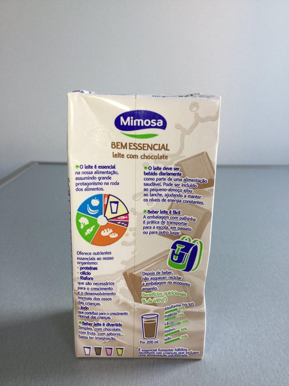 Mimosa Bem Essencial Leite Com Chocolate Side 3