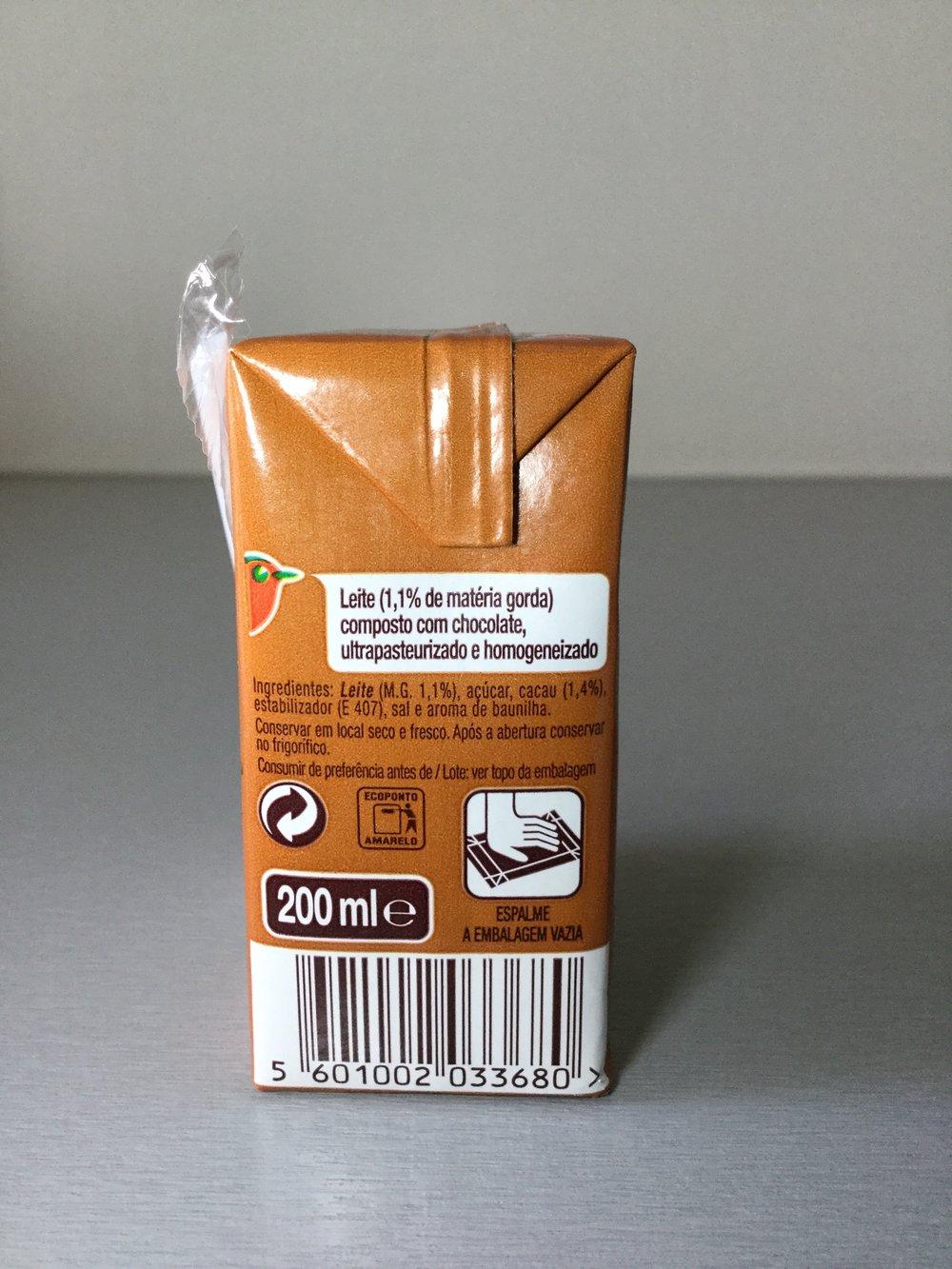 Auchan Leite Com Chocolate Side 2
