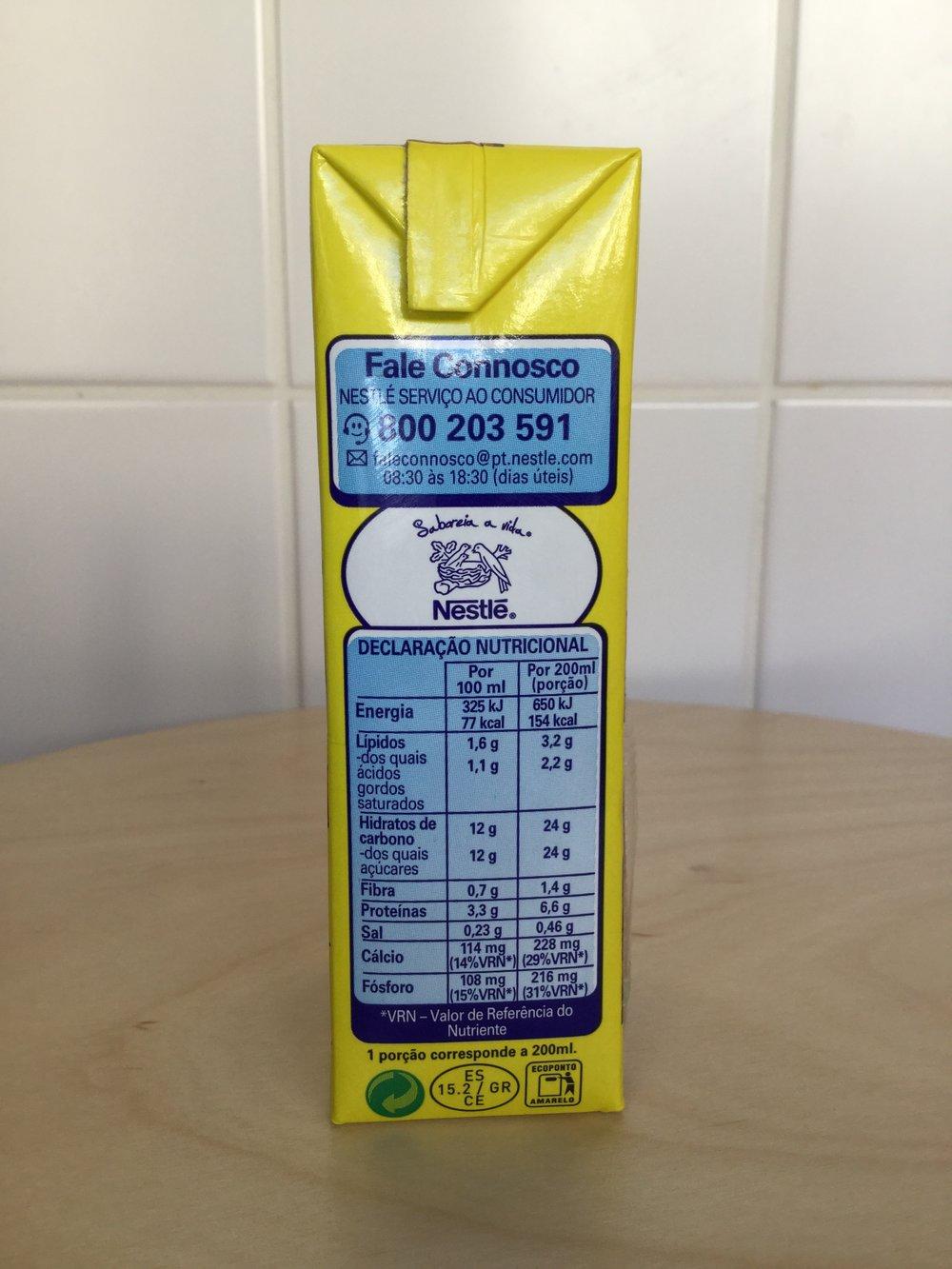 Nestle Nesquik UHT (Spain) Side 1