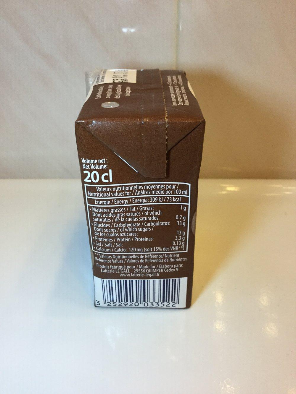 Le Gall Bio Lait Chocolaté Side 1